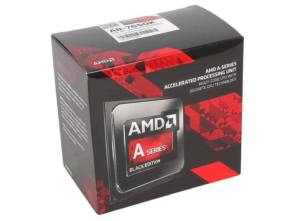 все цены на Процессор AMD A8 7650K BOX 95W, 4core, 3.8Gh(Max), 4MB(L2-4MB), Kaveri, QC, FM2+ (AD765KXBJASBX)