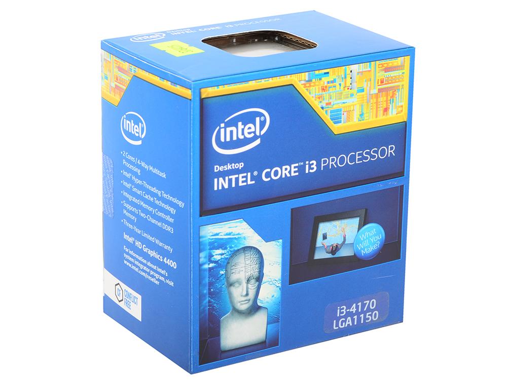 Процессор Intel Core i3-4170 3.7GHz 3Mb Socket 1150 BOX intel core i3 4170 bx80646i34170sr1pl