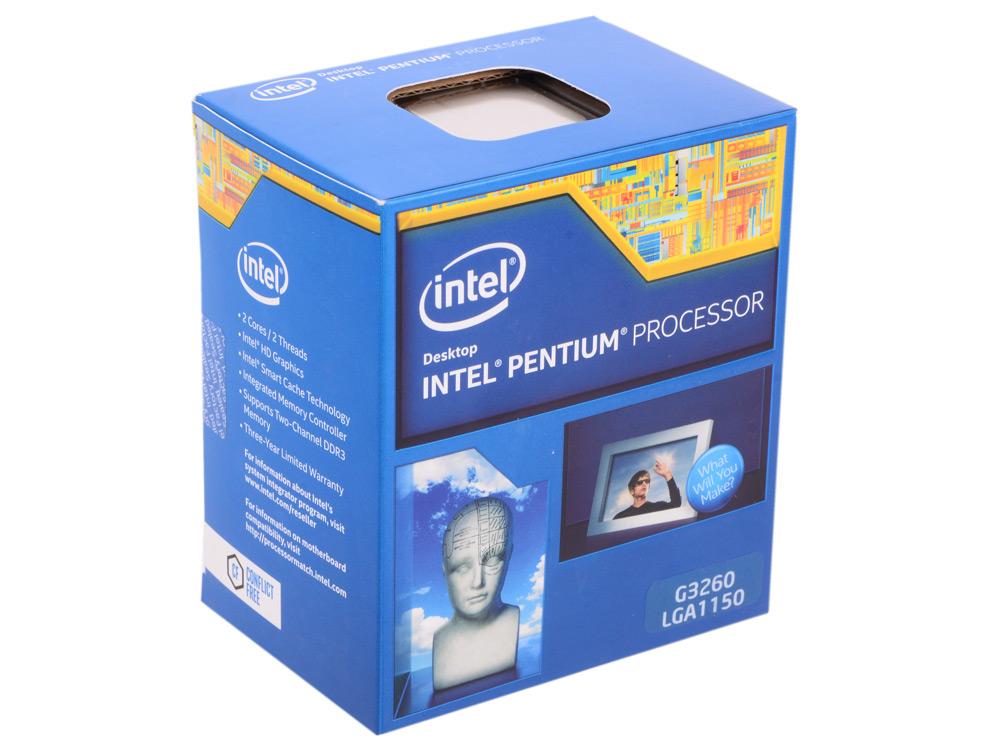 Процессор Intel Pentium G3260 3.3GHz 3Mb Socket 1150 BOX процессор intel pentium g3260 3 3ghz 3mb socket 1150 box