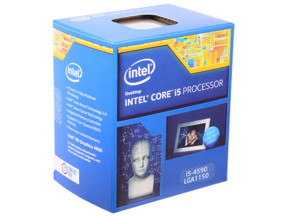 все цены на Процессор Intel Core i5-4590 3.3GHz 6Mb Socket 1150 BOX