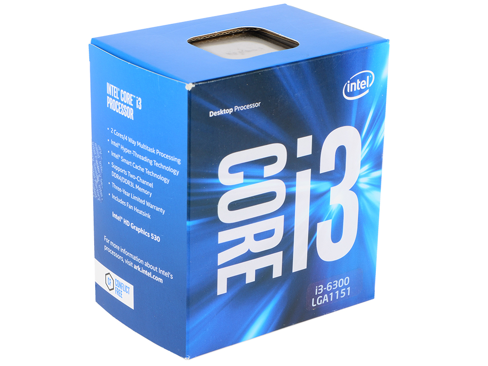 Картинка для Процессор Intel Core i3-6300 3.8GHz 4Mb Socket 1151 BOX