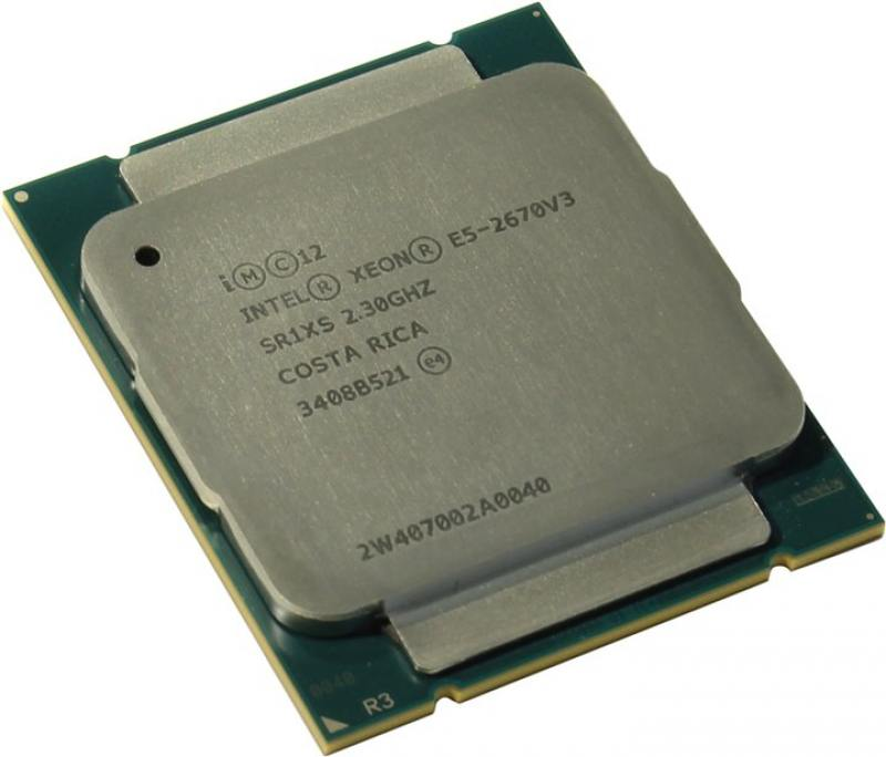Процессор Dell Intel Xeon E5-2670v3 2.5GHz 25Mb 338-BFCI процессор dell intel xeon e5 2630 v4 broadwell ep 2200mhz lga2011 3 l3 25600kb 338 bjdg box