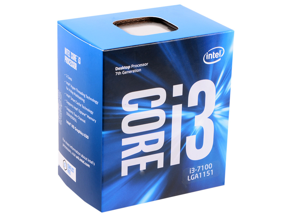 Процессор Intel Core i3-7100 BOX TPD 51W, 2/4, Base 3.9GHz, 3Mb, LGA1151 (Kaby Lake) 20pcs free shipping gbpc5010 bridge rectifiers 1000v 50a bridge rectifier new original