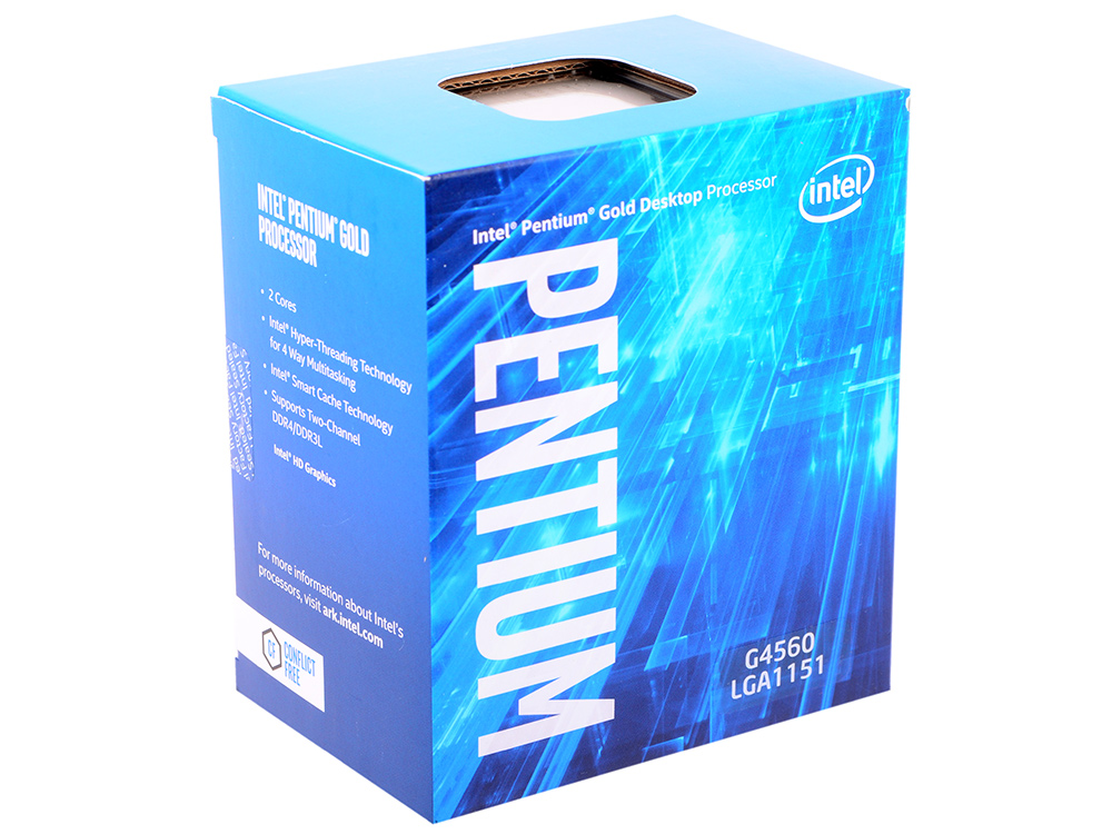 все цены на Процессор Intel Pentium G4560 BOX TPD 54W, 2/4, Base 3.5GHz, 3Mb, LGA1151 (Kaby Lake) онлайн