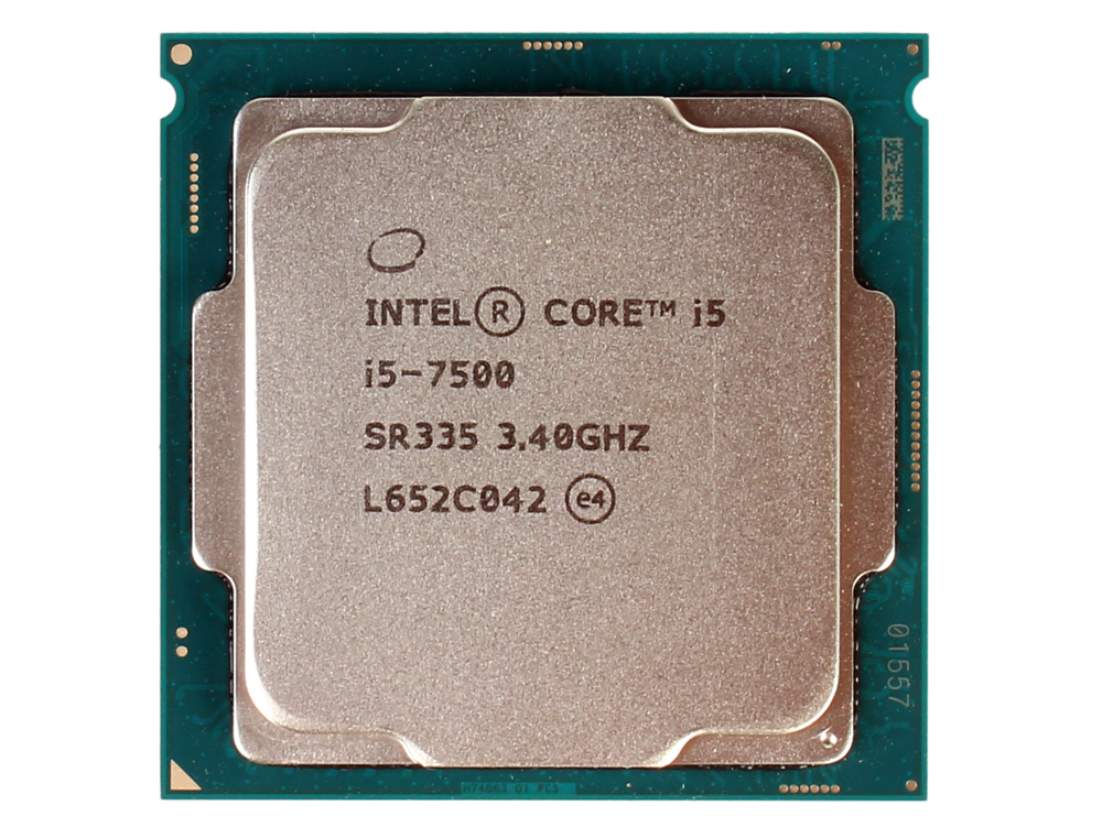 Процессор Intel Core i5-7500 OEM TPD 65W, 4/4, Base 3.4GHz - Turbo 3.8 GHz, 6Mb, LGA1151 (Kaby Lake) процессор intel core i3 8100 box tpd 65w 4 4 base 3 6ghz 6mb lga1151 coffee lake