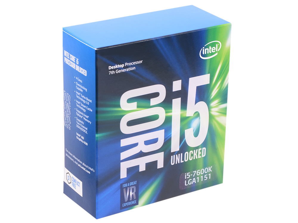 Процессор Intel Core i5-7600K BOX TPD 91W, 4/4, Base 3.80GHz - Turbo 4.20GHz, 6Mb, LGA1151 (Kaby Lake) процессор intel core i5 6400 2 7ghz 6mb lga1151 box bx80662i56400