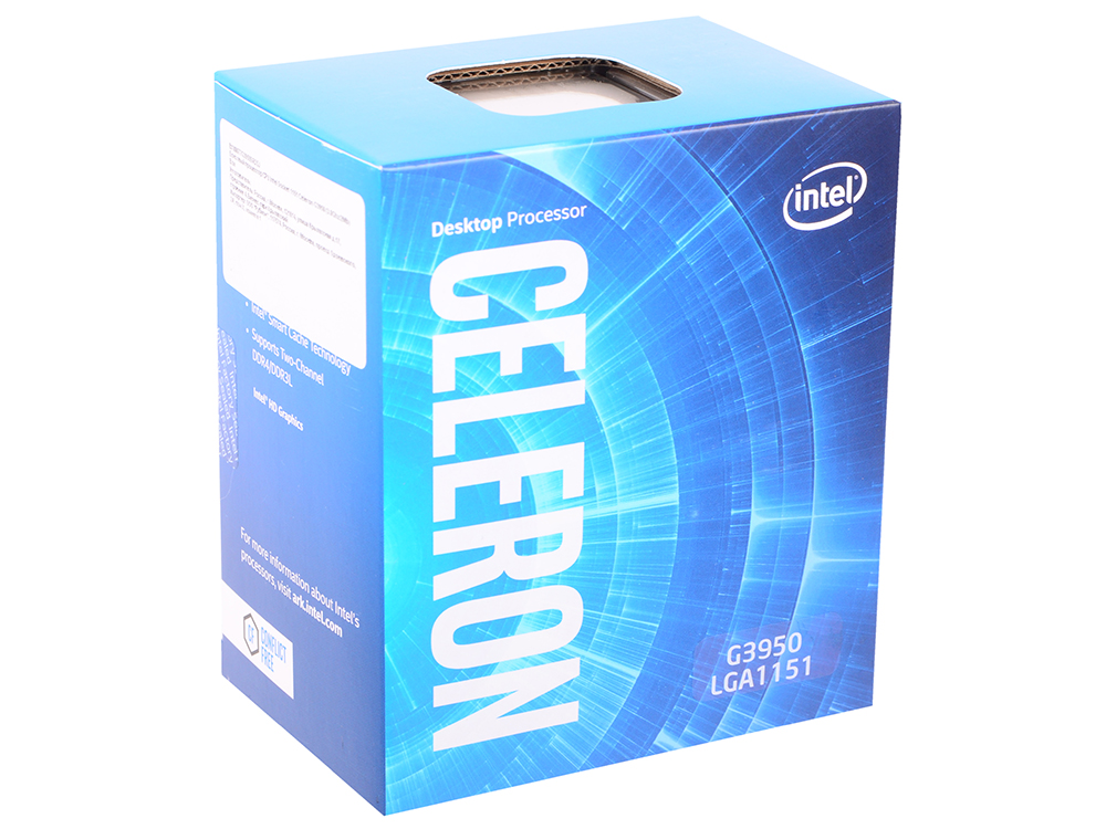 Процессор Intel Celeron G3950 BOX (TPD 51W, 2/2, Kaby Lake, 3.00 GHz, 2Mb, LGA1151) процессор intel celeron g530 cpu cpu 2 4g lga1155