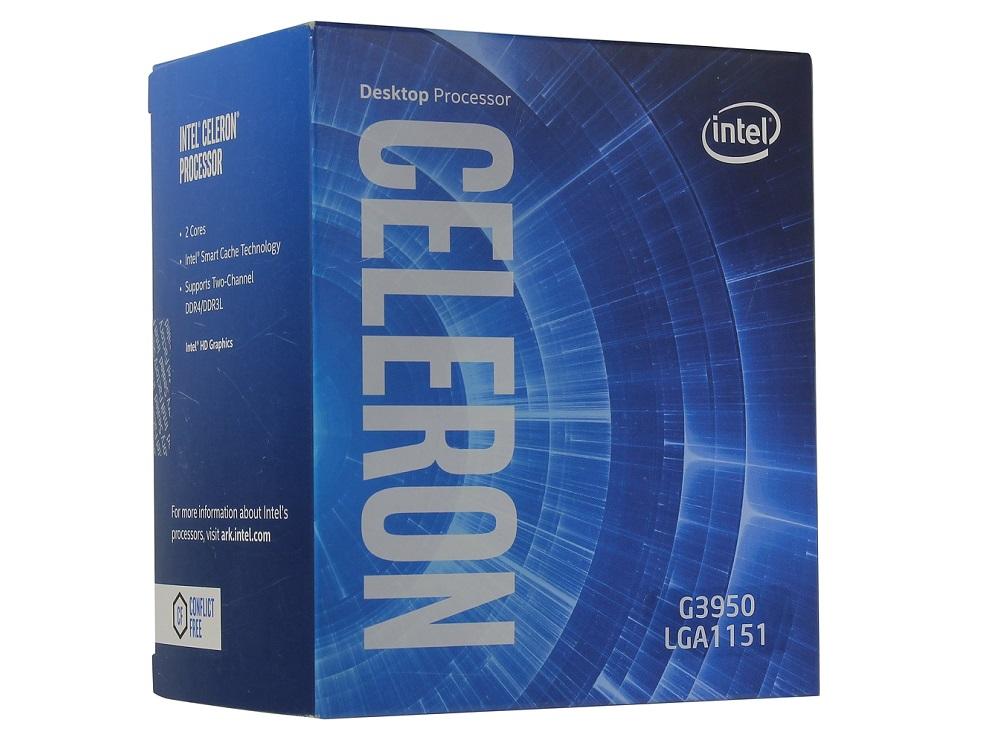 Процессор Intel Celeron G3950 BOX (TPD 51W, 2/2, Kaby Lake, 3.00 GHz, 2Mb, LGA1151) процессор intel celeron g3900 lga 1151 box
