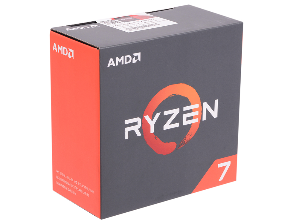 Процессор AMD Ryzen 7 1800X WOF 95W, 8/16, 4.0Gh, 20MB, AM4 (YD180XBCAEWOF) thermalright le grand macho rt computer coolers amd intel cpu heatsink radiatorlga 775 2011 1366 am3 am4 fm2 fm1 coolers fan