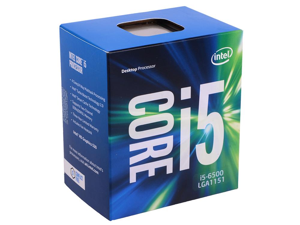 Процессор Intel Core i5-6500 BOX 3.2GHz, 6Mb, LGA1151, Skylake процессор intel core i5 6400 2 7ghz 6mb lga1151 box bx80662i56400