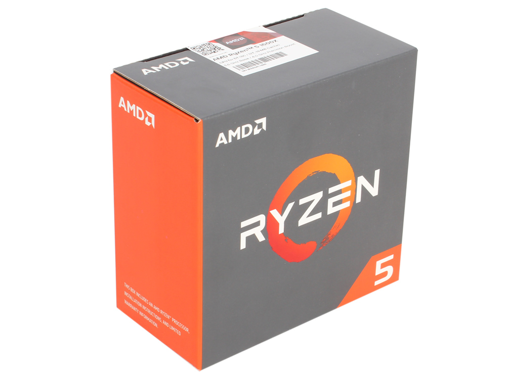 Процессор AMD Ryzen 5 1600X WOF (BOX without cooler) 95W, 6C/12T, 4.0Gh(Max), 19MB(L2-3MB+L3-16MB), AM4 (YD160XBCAEWOF)