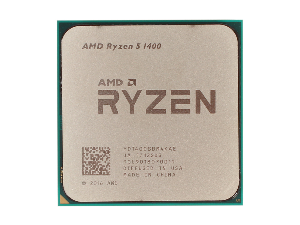 Процессор AMD Ryzen 5 1400 OEM 65W, 4C/8T, 3.4Gh(Max), 10MB(L2-2MB+L3-8MB), AM4 (YD1400BBM4KAE) процессор amd ryzen 5 1500x box 65w 4c 8t 3 7gh max 18mb l2 2mb l3 16mb am4 yd150xbbaebox