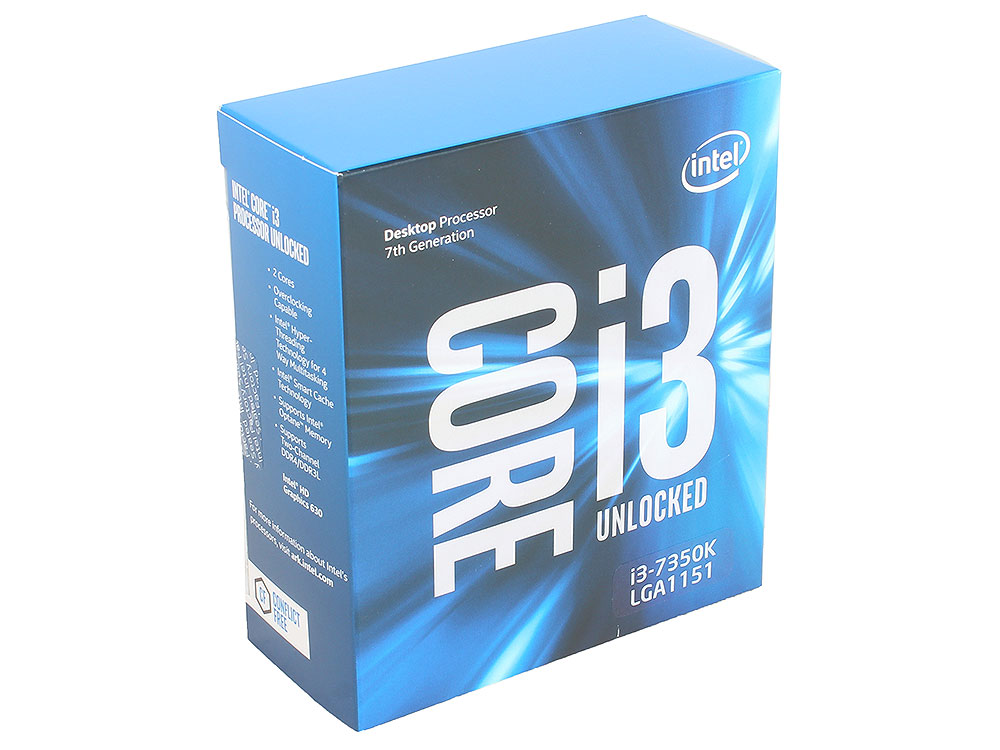 Процессор Intel Core i3-7350K BOX w/o Fan TPD 60W, 2/4, Base 4.2GHz, 4Mb, LGA1151 (Kaby Lake) shure cvb w o