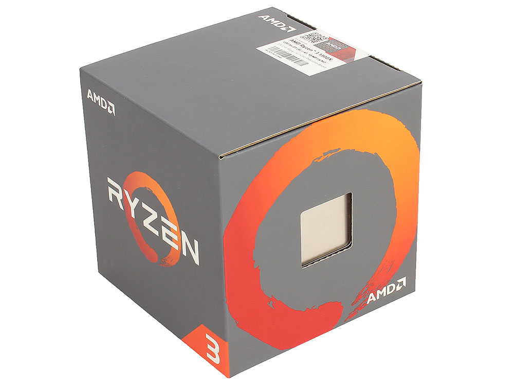 Процессор AMD Ryzen 3 1300X BOX 65W, 4C/4T, 3.7Gh(Max), 10MB(L2-2MB+L3-8MB), AM4 (YD130XBBAEBOX) процессор amd процессор amd ryzen 3 1300x am4 box