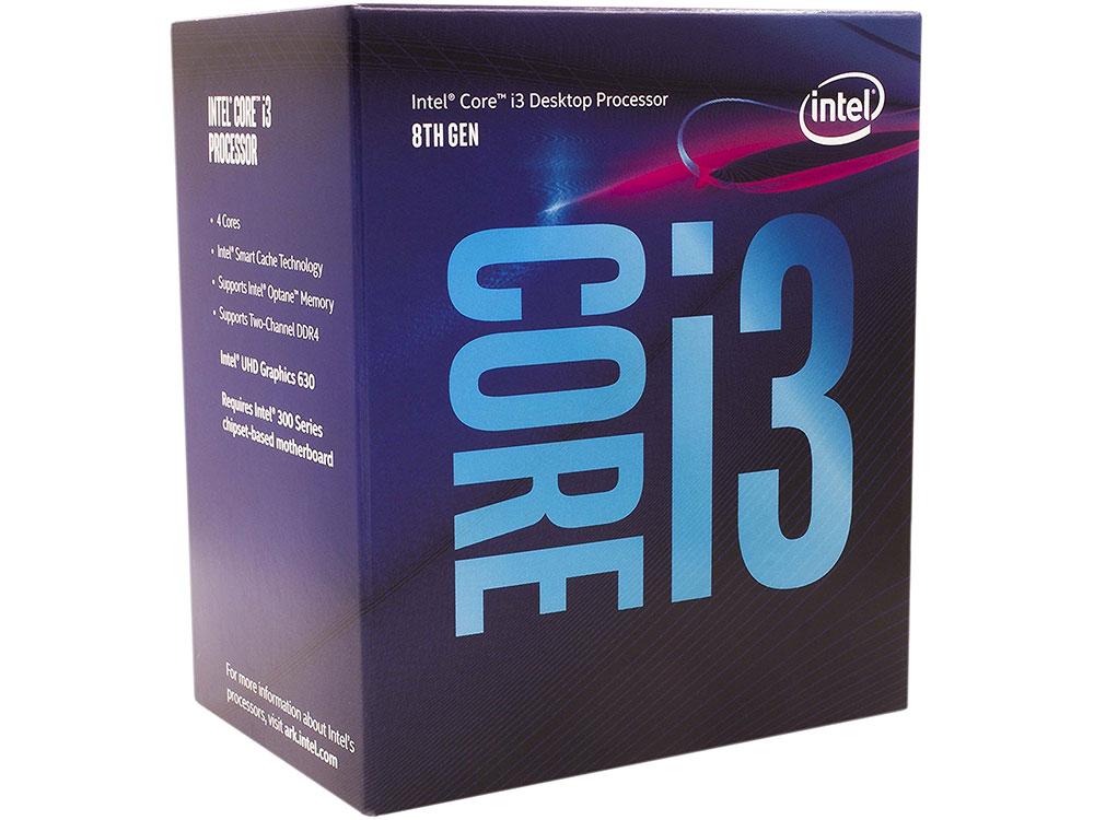Процессор Intel Core i3-8100 BOX (TPD 65W, 4/4, Base 3.6GHz, 6Mb, LGA1151 (Coffee Lake))
