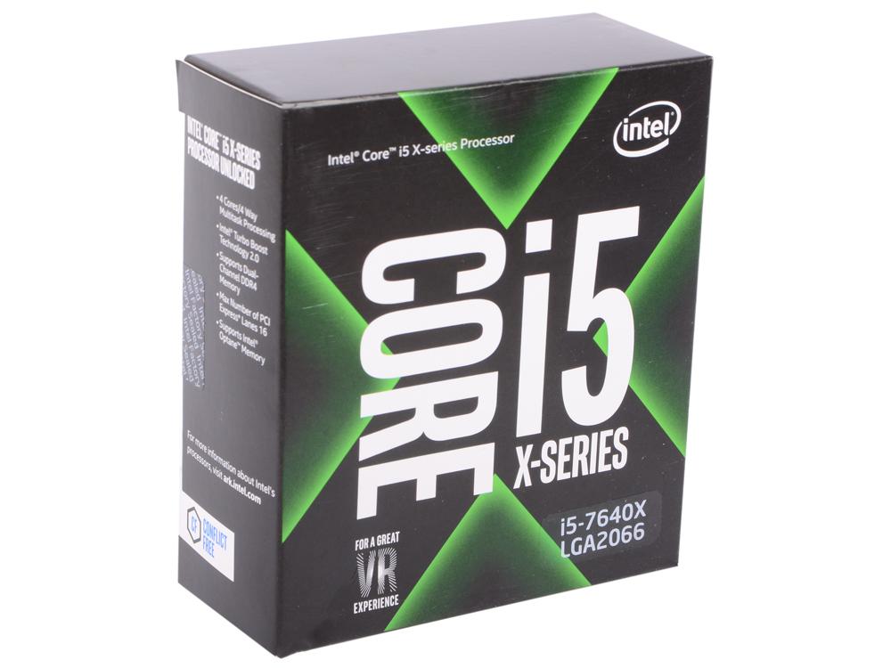 Процессор Intel Core i5-7640X 4.0GHz 6Mb Socket 2066 BOX процессор intel core i5 4460 3 2ghz 6mb socket 1150 box