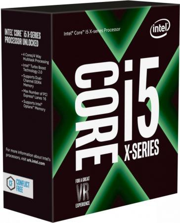 Процессор Intel Core i5-7640X 4.0GHz 6Mb Socket 2066 BOX процессор intel original core i9 7900x soc 2066 bx80673i97900x s r3l2 3 3ghz box w o cooler