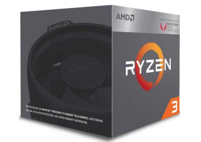 Процессор AMD Ryzen 3 2200G BOX (65W, 4C/4T, 3.7Gh(Max), 6MB(L2+L3), AM4) RX Vega Graphics (YD2200C5FBBOX)