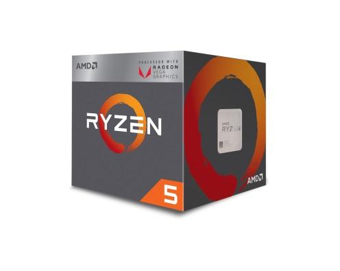 Процессор AMD Ryzen 5 2400G BOX (65W, 4C/8T, 3.9Gh(Max), 6MB(L2+L3), AM4) RX Vega Graphics (YD2400C5FBBOX)