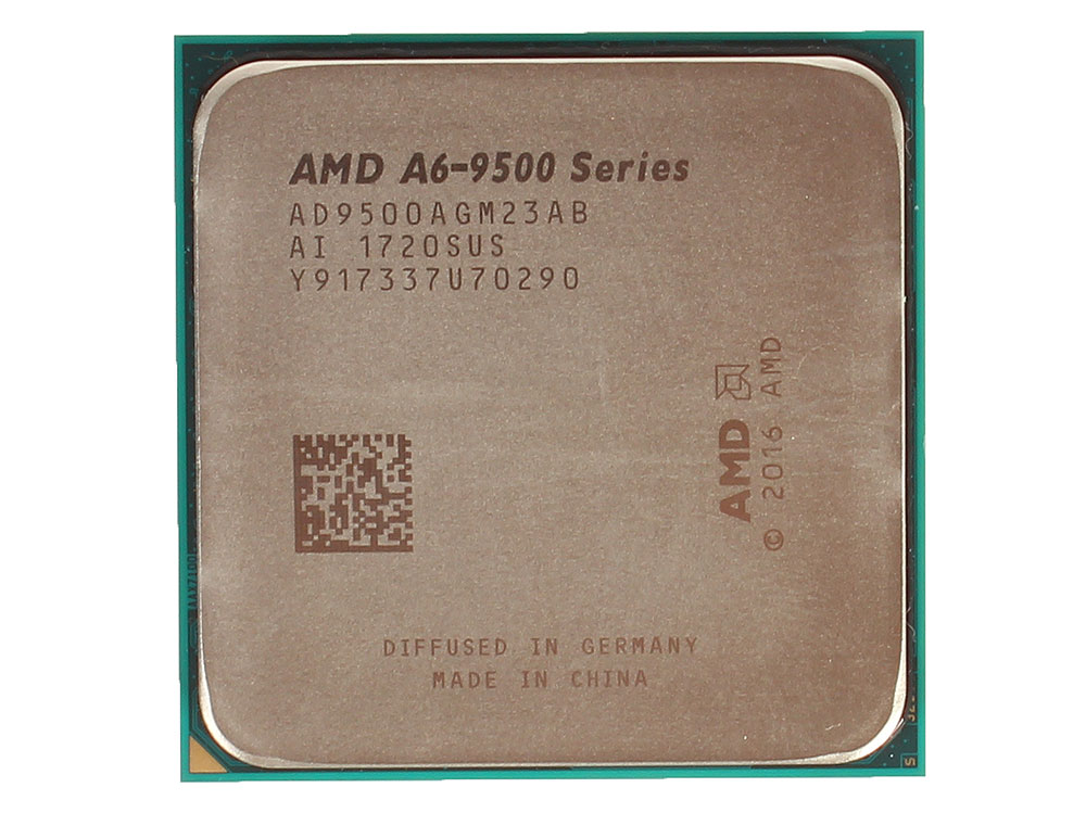 Процессор AMD A6 9500 BOX 65W, 2C/2T, 3.8Gh(Max), 1MB(L2-1MB), AM4 (AD9500AGABBOX)