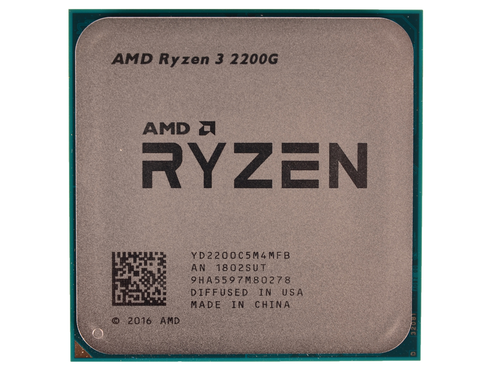 Процессор AMD Ryzen 3 2200G OEM (65W, 4C/4T, 3.7Gh(Max), 6MB(L2+L3), AM4) RX Vega Graphics (YD2200C5M4MFB) thermalright le grand macho rt computer coolers amd intel cpu heatsink radiatorlga 775 2011 1366 am3 am4 fm2 fm1 coolers fan