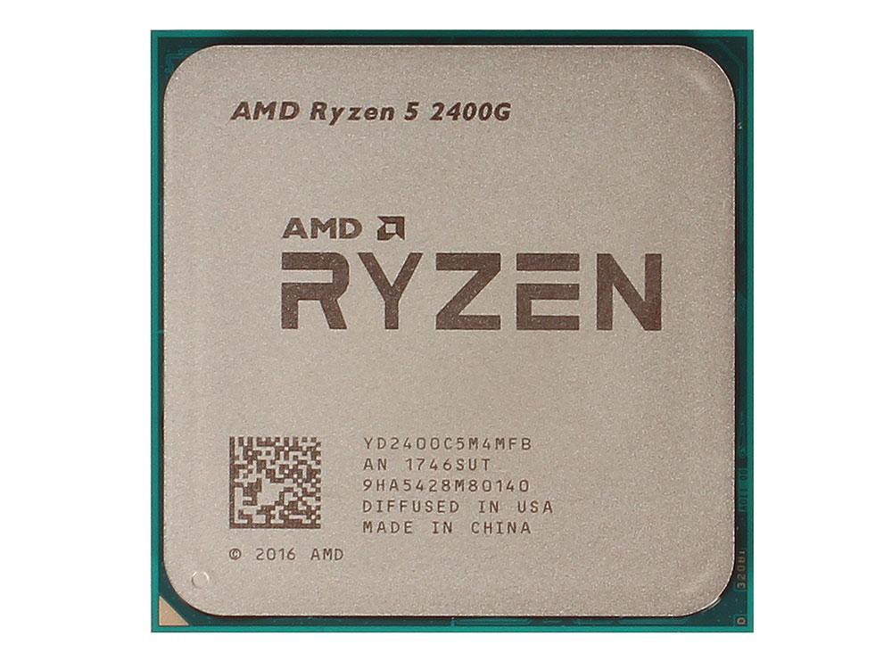 Процессор AMD Ryzen 5 2400G OEM (65W, 4C/8T, 3.9Gh(Max), 6MB(L2+L3), AM4) RX Vega Graphics (YD2400C5M4MFB) процессор amd am4 ryzen 5 2400g box 3 9 ггц 6 мб rx vega graphics