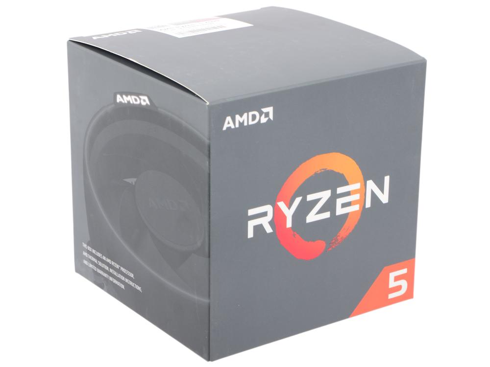 Процессор AMD Ryzen 5 2600 BOX (65W, 6C/16T, 3.9Gh(Max), 19MB(L2+L3), AM4) (YD2600BBAFBOX) процессор amd ryzen 5 1400 box 65w 4c 8t 3 4gh max 10mb l2 2mb l3 8mb am4 yd1400bbaebox