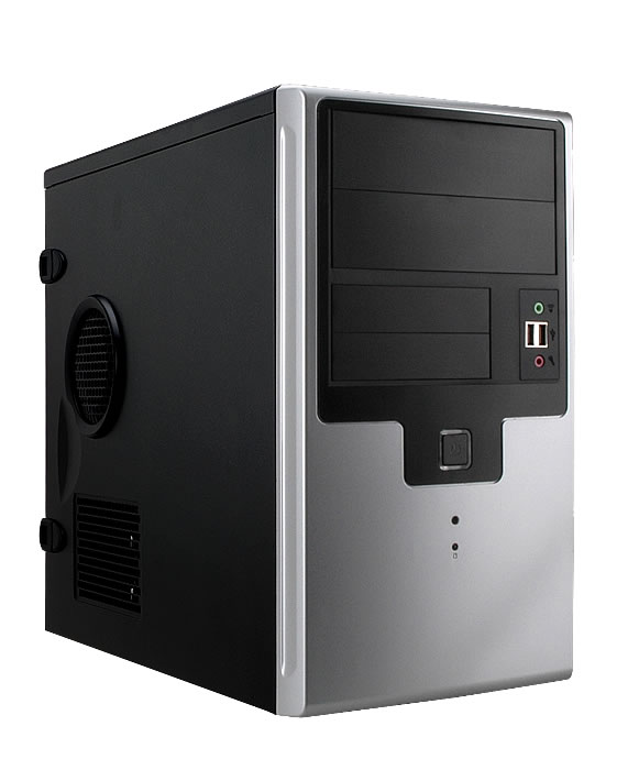Корпус InWin EMR009 Black-Silver mATX 450W USB/Audio