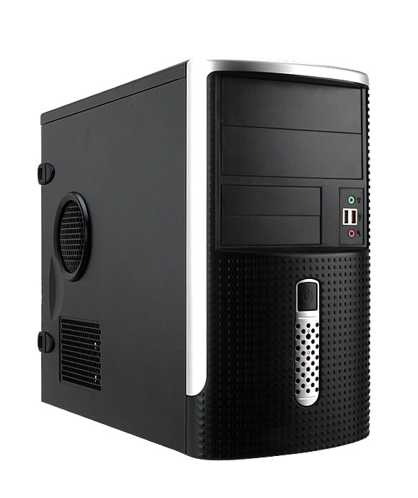 Корпус InWin EMR001 Black-Silver mATX 450W USB/Audio корпус in win emr002 450w black silver