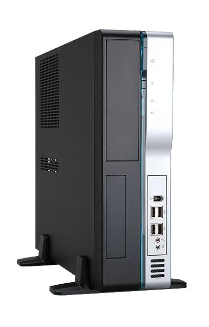 Корпус InWin BL631 Black-Silver mATX 300W USB/Audio