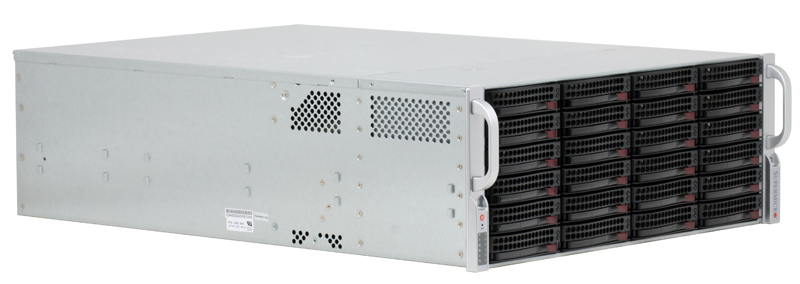Корпус Supermicro CSE-846TQ-R900B 4U chassis 24 x 3.5 Hot-swap SAS/SATA Drive Bays 2*900W multi disk chassis 4u650mm 24 hot swap storage server monitoring computer case
