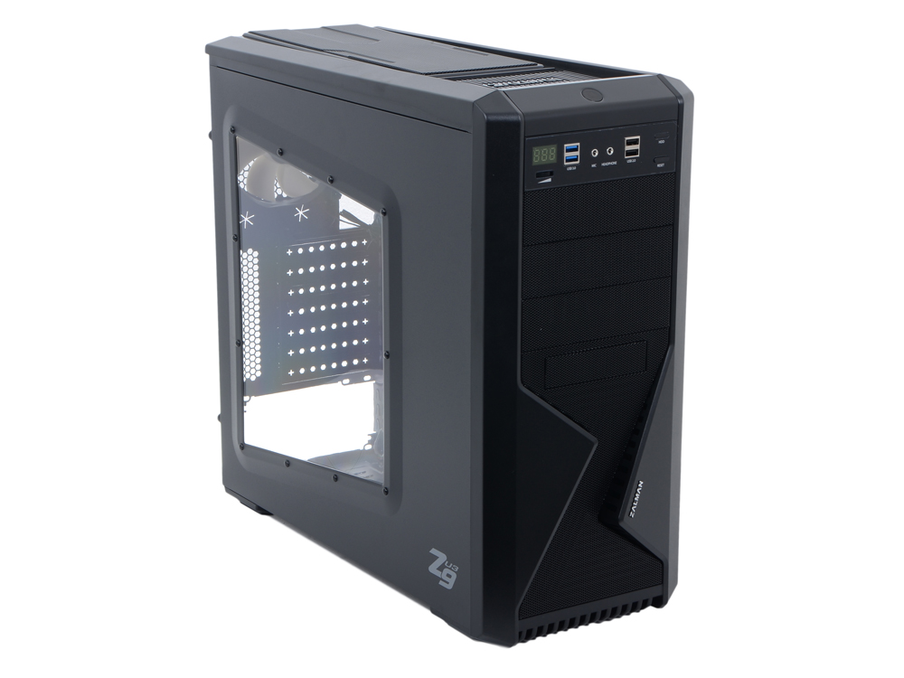 Корпус Zalman Z9 U3 Black w/o PSU корпус zalman z3 plus black w o psu