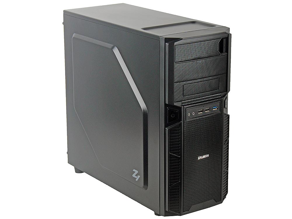 Корпус Zalman ZM-Z1 Black w\o PSU корпус zalman mini tower zm t5 black