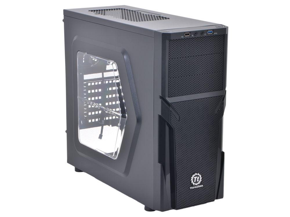 Корпус Thermaltake Versa H21 Black w/o PSU Window CA-1B2-00-M1WN-00 корпус zalman z9 neo black w o psu