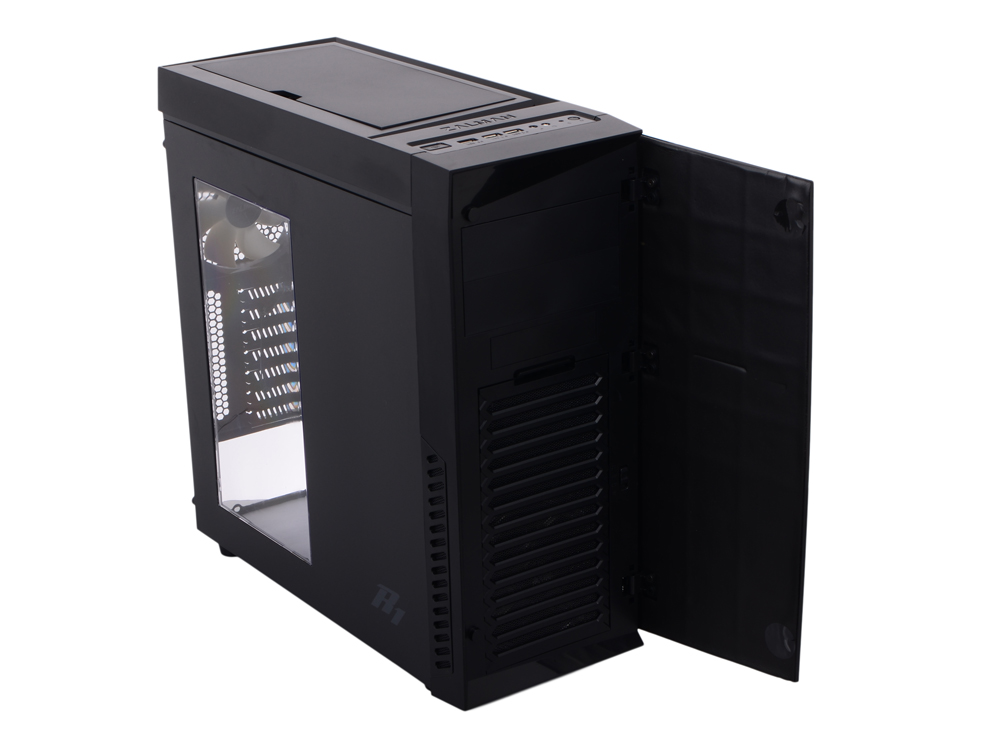 Корпус Zalman R1 Black w/o PSU корпус zalman x7 black w o psu