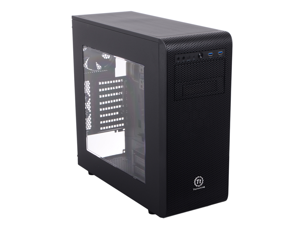 Корпус Thermaltake Core V31 Black w/o PSU,CA-1C8-00M1WN-00 корпус exegate mi 207 w o psu black