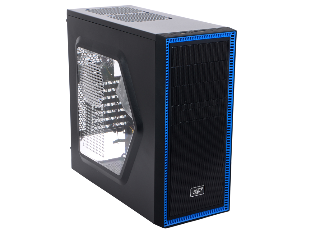 Корпус Deepcool TESSERACT SW Black , ATX, без БП, окно, 1x USB 3.0, 1x USB 2.0, 2x 12cm LED fan. tesseract sw red
