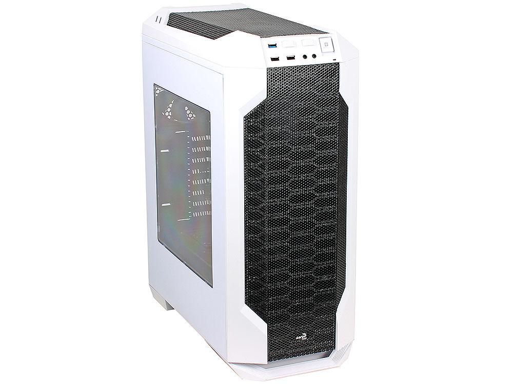 Корпус Aerocool LS-5200 [Liquid Solution] White, ATX, без БП , для систем водяного охлаждения, 2x USB2.0 + 1x USB3.0, 2х реобаса, 0,6