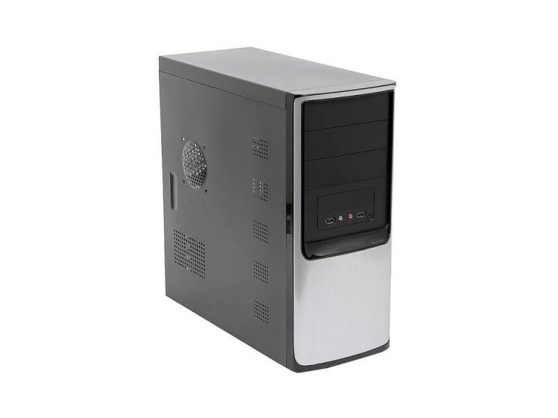 Корпус microATX Super Power Winard 5819 350 Вт чёрный серый корпус microatx super power winard 5819 без бп чёрный серебристый