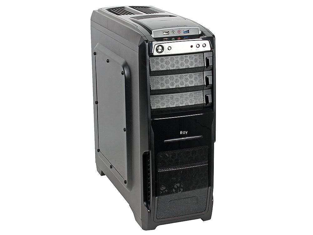 Корпус Sunpro Ray, ATX, без БП , SSD/HDD док-станция, окно, реобас, 1x USB 3.0, 1x USB 2.0, 2х 12см вентилятора в комплекте.