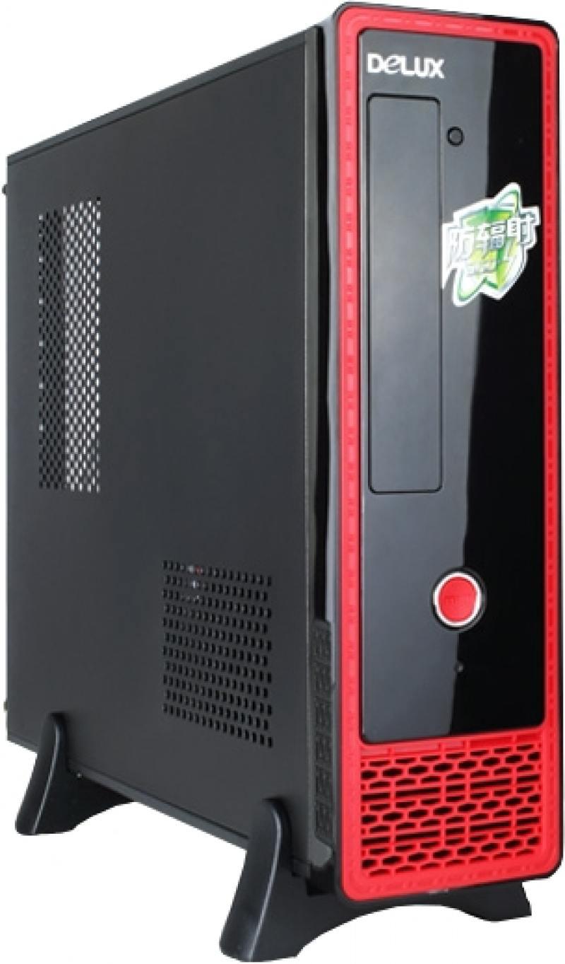 Корпус ATX Delux DL-158 400 Вт чёрный красный