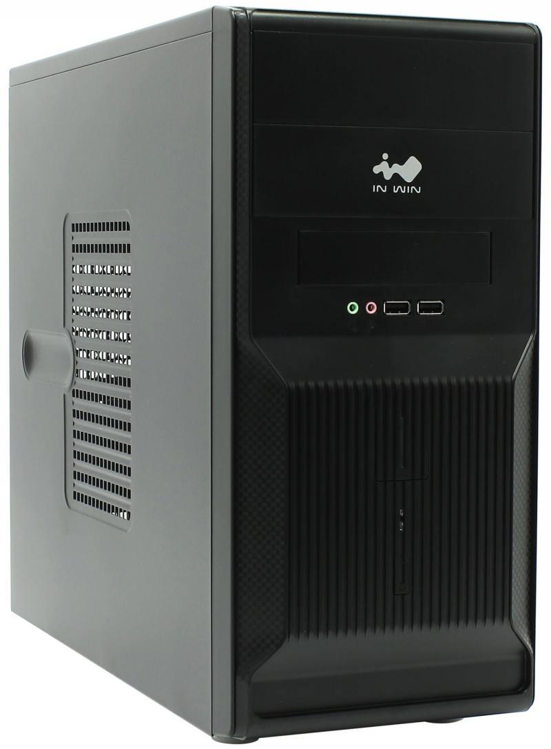 где купить Корпус microATX InWin ENR-028BL 400 Вт чёрный дешево