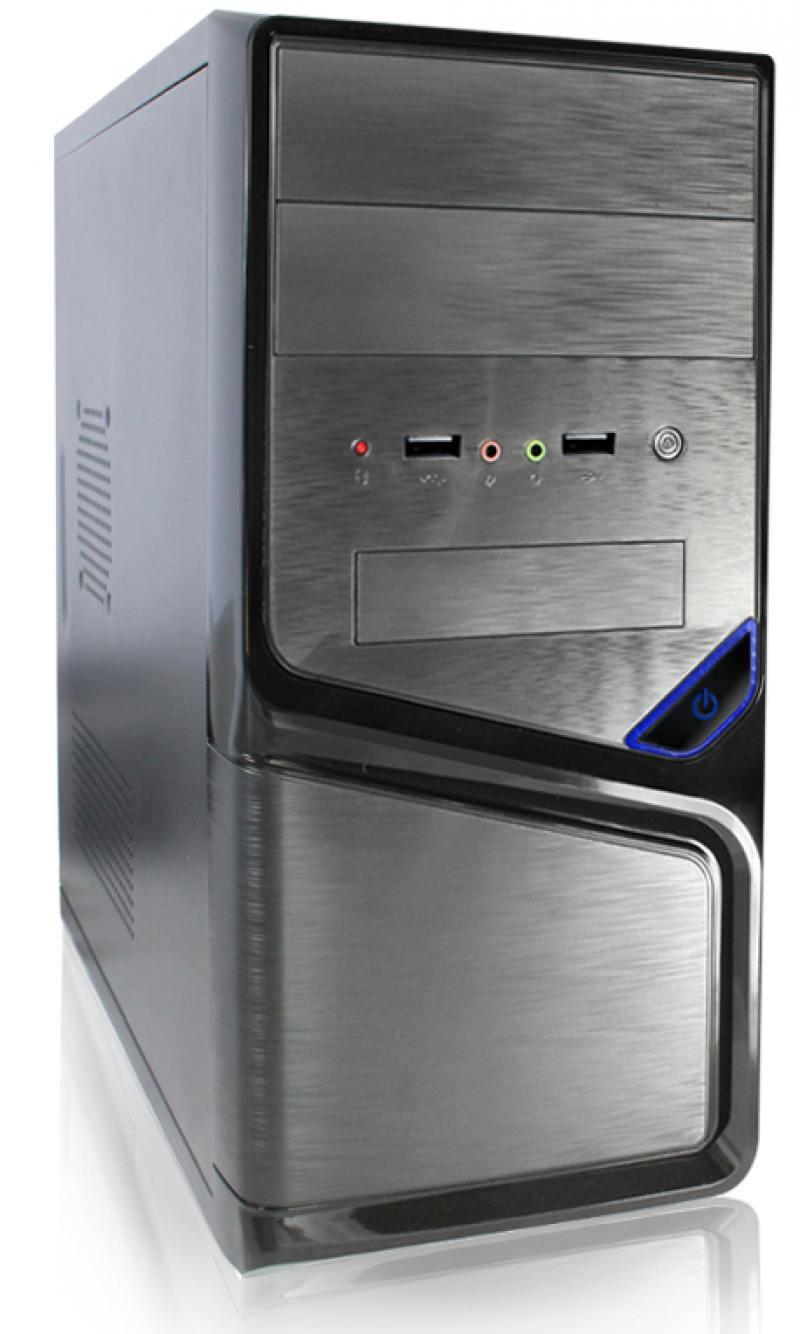 Корпус microATX Super Power Winard 5819 450 Вт чёрный серебристый корпус microatx super power winard 5819 без бп чёрный серебристый