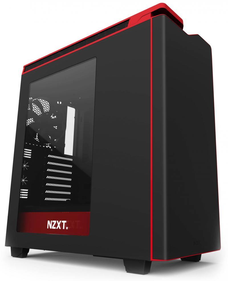 Корпус ATX NZXT H440 Без БП чёрный красный CA-H442W-M1