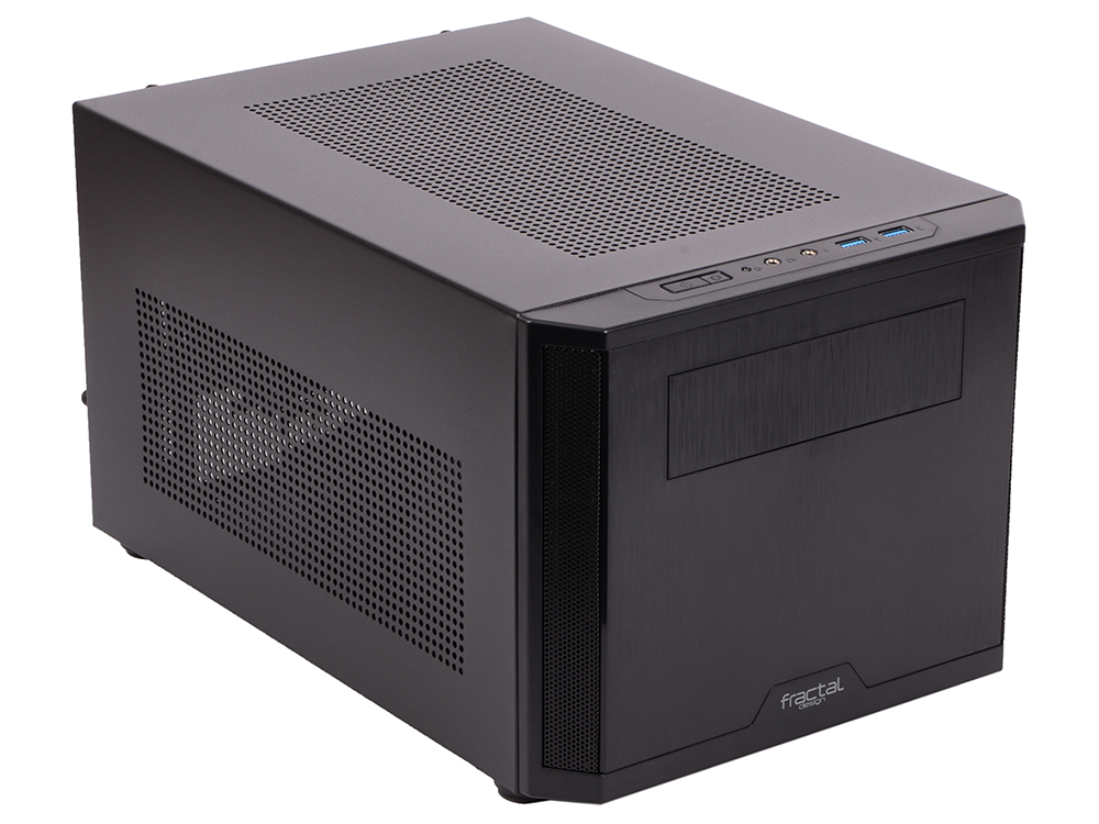 Корпус mini-ITX Fractal Core 500 Без БП чёрный корпус matx fractal design define mini c tg mini tower без бп черный