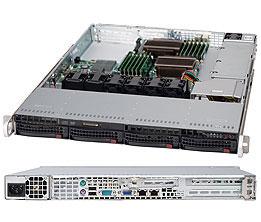 Серверный корпус 1U Supermicro CSE-815TQ-600WB 600 Вт чёрный корпус серверный supermicro cse 815tq 563cb cse 815tq 563cb
