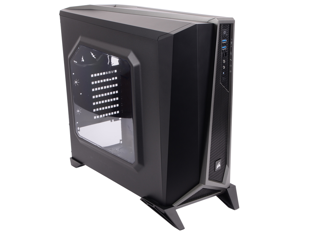Корпус Corsair Carbide Series SPEC-ALPHA Black-Silver Window w/o PSU корпус atx corsair carbide series spec alpha без бп чёрный cc 9011084 ww