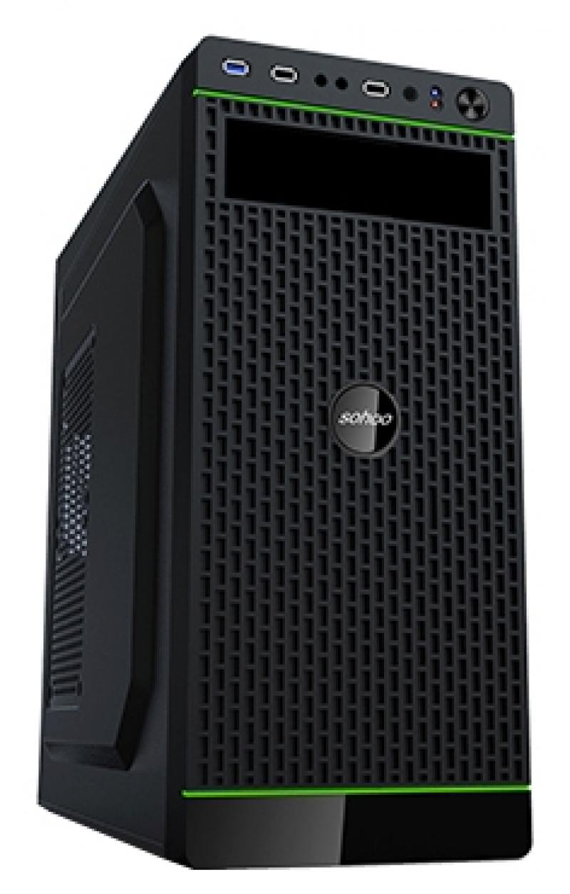 Корпус ATX PowerCool S2007BK 500 Вт чёрный