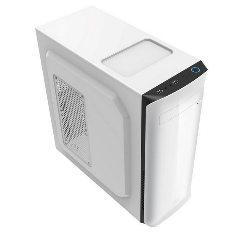 Корпус ATX PowerCool S2010Wh 500 Вт белый