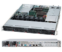 Серверный корпус 1U Supermicro CSE-815TQC-R706WB 720 Вт чёрный серверный корпус 1u supermicro cse 813mtq r400cb 400 вт чёрный